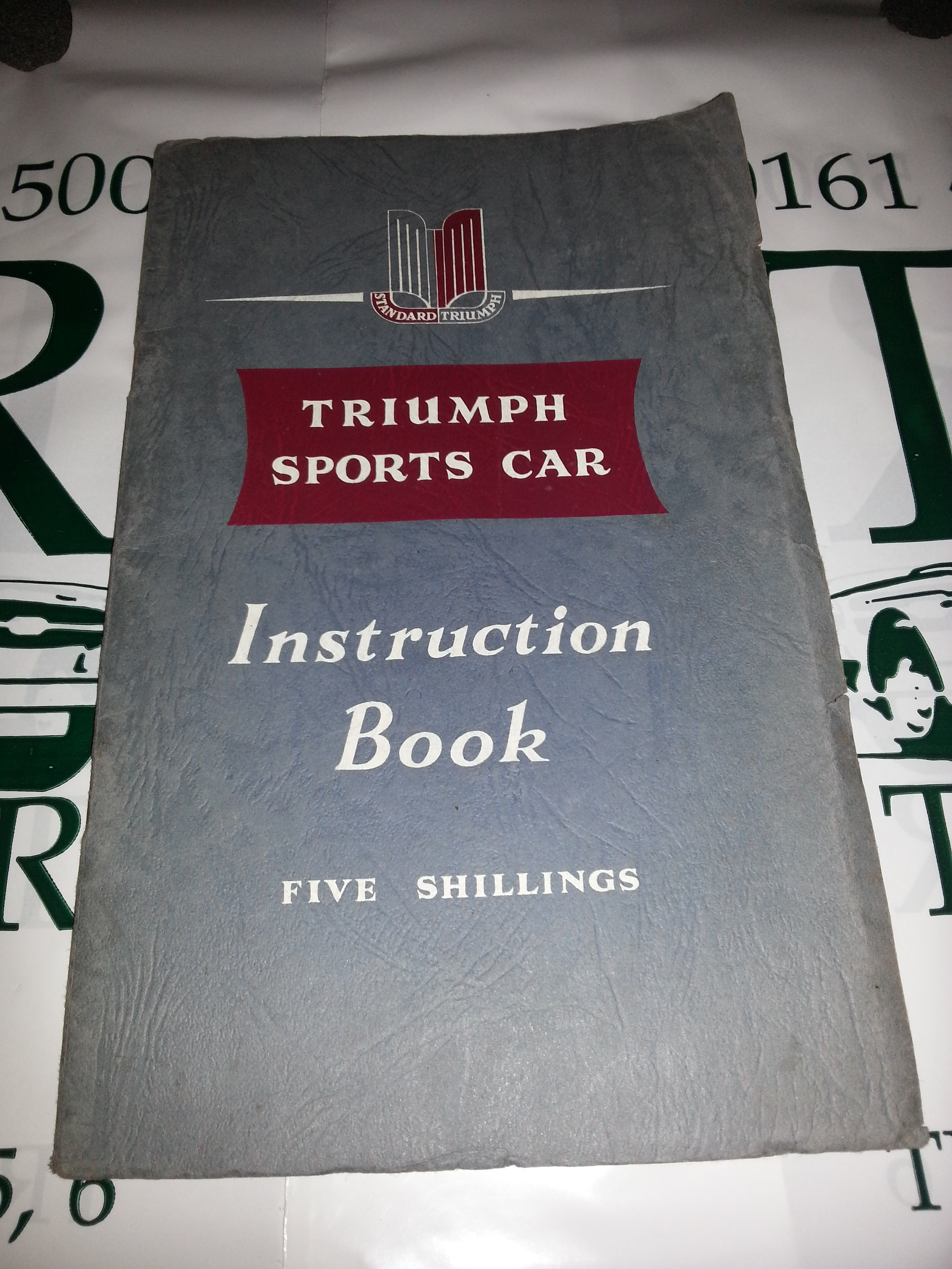 Automobilia For Sale Triumph Tr7 Color Wire Diagrams Standard Sports Car Instruction Book The Tr2 First Edition With Fold Out Chart Of Chassis Detail And Wiring Diagram