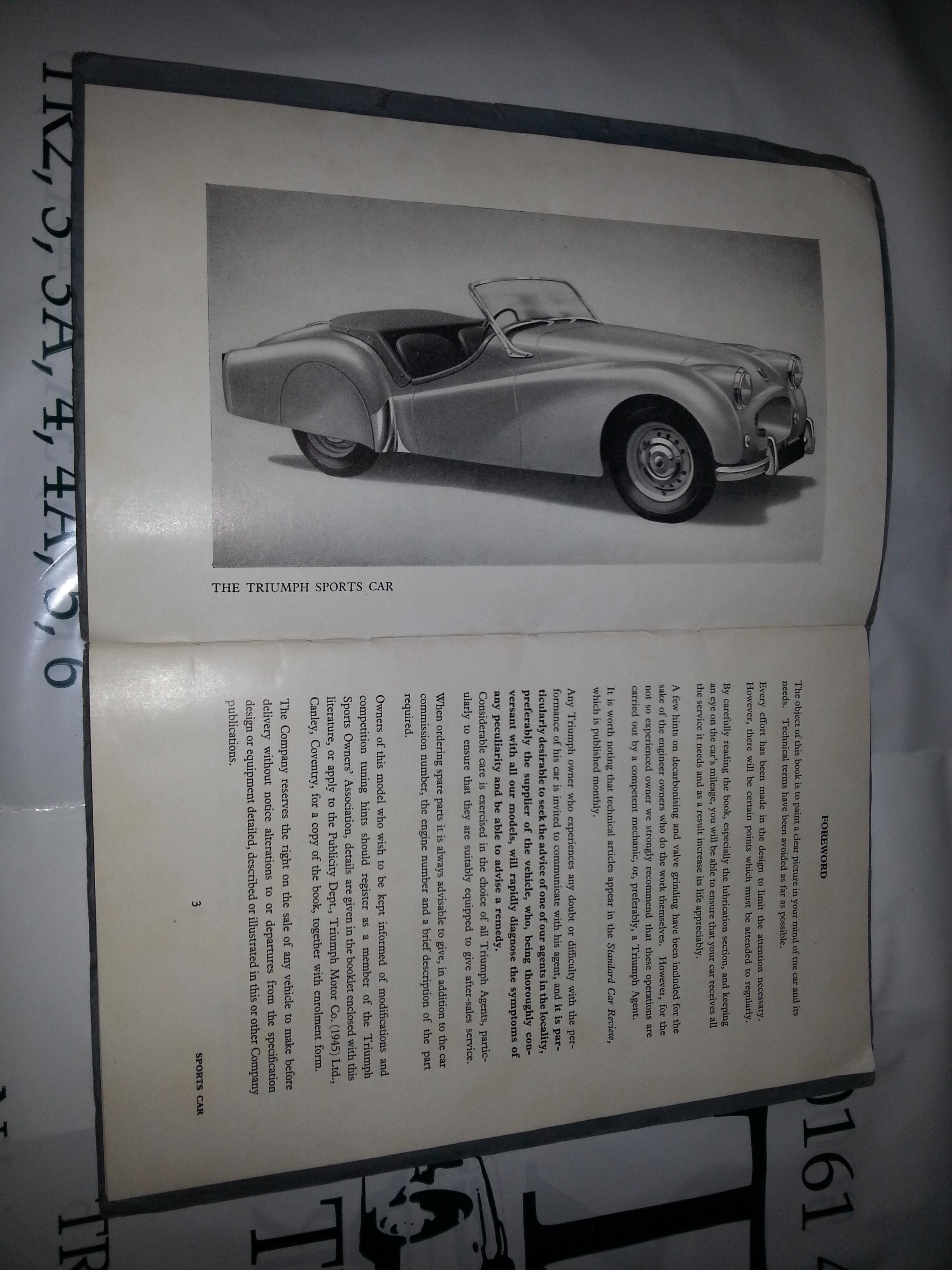 Automobilia For Sale 1959 Triumph Tr3 Wiring Diagram Sold